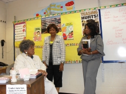 Students from Class of 1967 visit Ms. Whisenants at Kennedy Middle School 2010.
