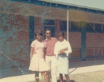 Harriet, Greg, and Leola  After school at Monroe High