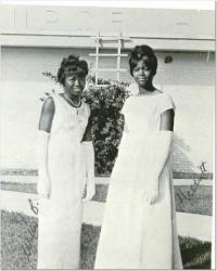 Homecoming Queens Willie Bell and Harriet